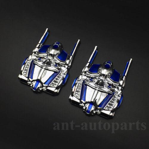 2x Transformers Optimus Prime Autobot Deception Car Emblem Badge Decal Sticker
