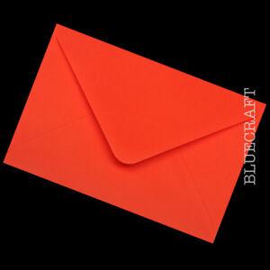 Confezione-da-10-x-A6-C6-Premium-Rosso-Papavero-BUSTE-100gsm-114-x-162mm-6-x-4-034