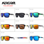 Kdeam 8 Colors Mens Sport Polarized Sunglasses Square Outdoor Riding Goggles New