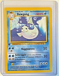 DEWGONG-1st-edicion-25-102-Vintage-Pokemon-italiano-Base-Set-cerca-de-nuevo-sin-usar