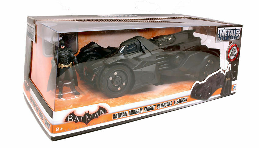 Batman Arkham Knight Batmobile & Figure 1 24 Model JADA TOYS
