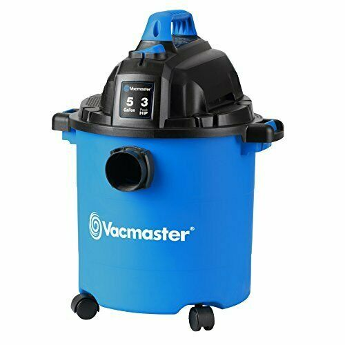 Vacmaster 5 Gallon, 3 Peak HP, Wet Dry Vacuum cleaner easy clean