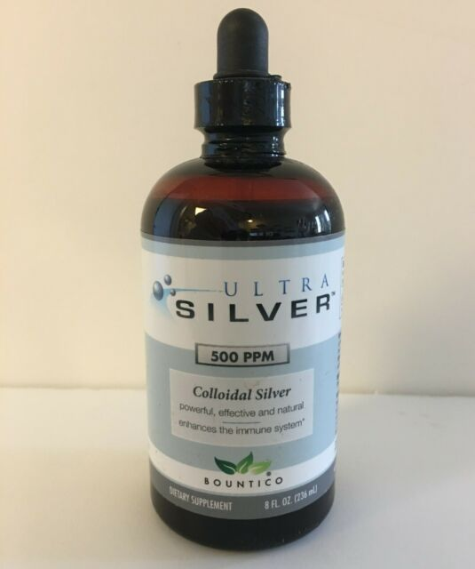 Ultra Silver 500 PPM Colloidal Silver- 8 oz. NEW - FREE SHIPPING