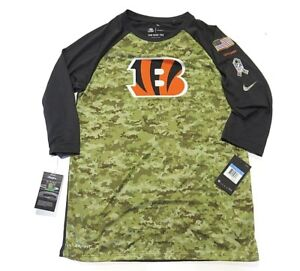 d6e3e66b Image is loading NWT-Nike-Cincinnati-Bengals-NFL-Military-Athletic-Dri-