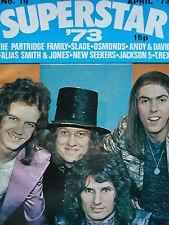 SUPERSTAR MAGAZINE NO 19 APRIL 1973 - SLADE - MARC BOLAN - OSMONDS - NEW SEEKERS