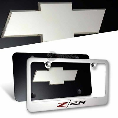 CHEVROLET CAMARO Z28 Mirror Stainless Steel License Plate Frame-2pc Front /& Back