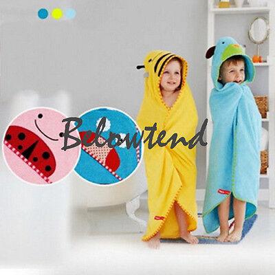 Cartoon Animal Hooded Beach Bath Towel Wrap Bathrobes Baby Kids Children Unisex