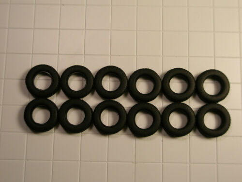 0.472 inches For Faller Car System HO Truck Rubber Tires 12 mm 12pcs