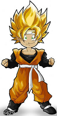 """7/"""" DRAGONBALL Z LOGO ANIME WALL SAFE STICKER CHARACTER BORDER CUT OUT"""