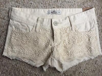 Hollister Lace Front Shorts Size 1 W25