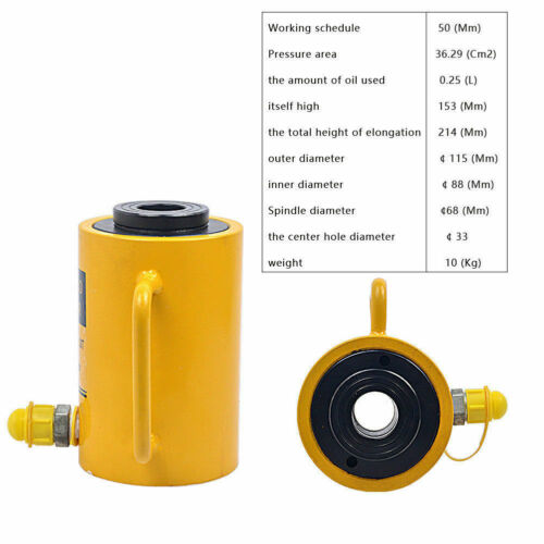Hydraulic Hollow Hole Cylinder Jack Ram 30 Tons Industrial Yi