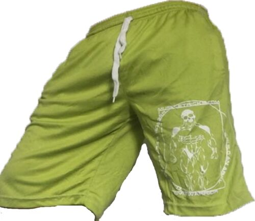 BODY BUILDING SHORTS crossfit green muscle gym wear board shorts gasp wow