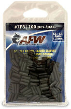 AFW American Fishing Wire J07F8B-B #7F8 Double Barrel Sleeves Black 100 pieces