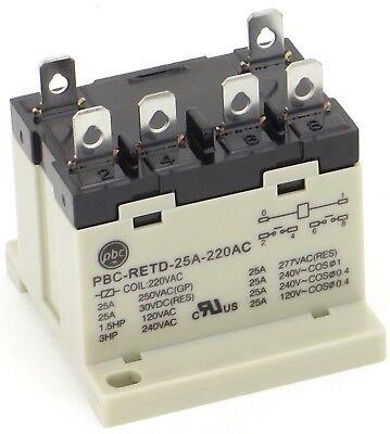 25 AMP COIL 24VAC PBC-REBD-25A-24AC NEW 2NO RELAY