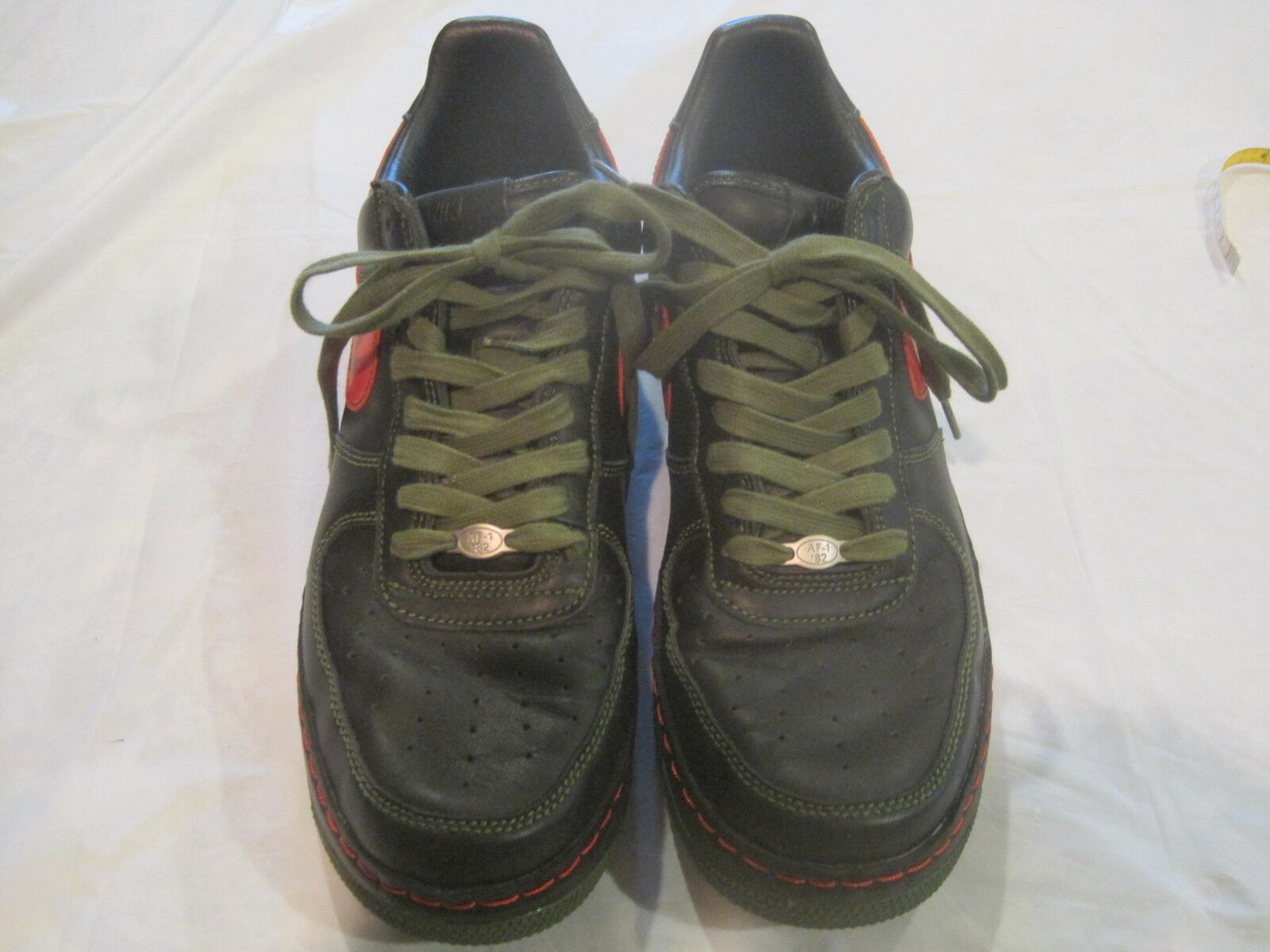 best service a8ce1 4d168 ~Nike Air Force 1 Black with Red Red Red Trim 050810-LN4~Mens