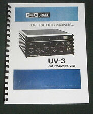 Drake UV-3 Instruction Manual - Premium Card Stock Covers & 32lb Paper!