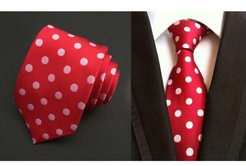 New Classic Polka Dot Blue JACQUARD WOVEN Silk Suit Men/'s Tie Necktie