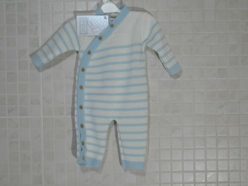 6-9 m Pex Spanish style baby Boy Girl knitted Romper striped Blue Pink Newborn