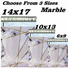 Choose 6x9 10x13 14x17 Marble Boutique Designer Poly Mailers Fast Shipping