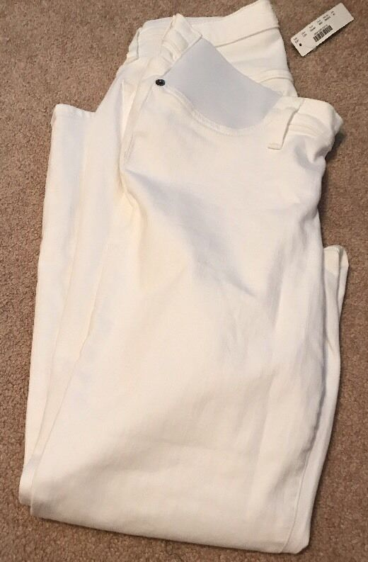 J Crew Maternity pants slim boy jean white 30  E8440  148 Baby Slim Leg Relx Hip