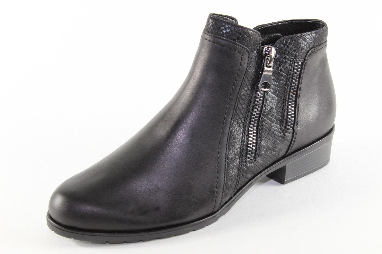 Remonte D6870-01, schwarze Stiefelette mit Warmfutter, Damenschuhe Übergröße