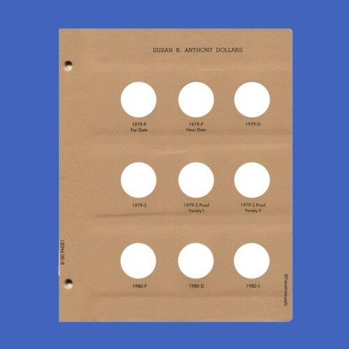 DANSCO Album Page Susan B Anthony Dollars #8180-1 Page 1