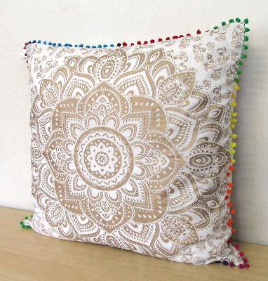 """24x24/"""" Cover Indian Mandala Pillow Case Square Bohemian Us Cushion 2 Pcs."""