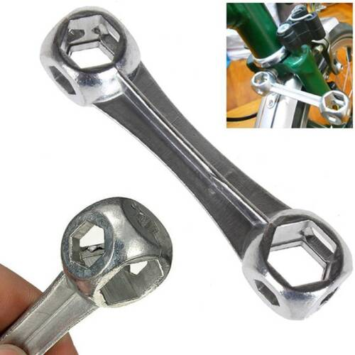 10 in 1 Mini Dog Bone Shape Bicycle Repair  Wrench Hexagon Holes Spanner TOP