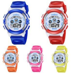Multifunction-Kids-Boys-Girls-Digital-Sports-Electronic-Wrist-Watch-Waterproof