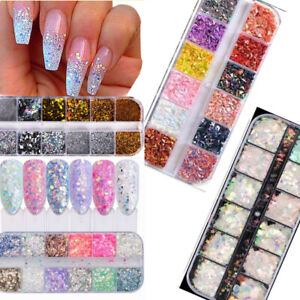Christmas Nails Gel.Details About Nail Art Glitter Powder Dust Uv Gel Acrylic Powder Sequins Christmas Nails Tips
