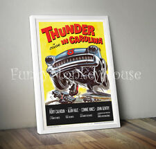 Thunder in Carolina Vintage film poster car racing motorsport 50s 60s - A4