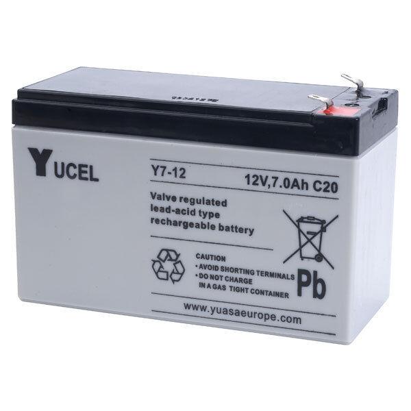 Batterie biomedicale 12V 7ah Y7-12FR  yucel 151x65x100mm FLAMME RETARDANT