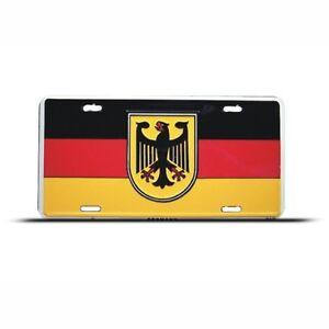 GERMANY-GERMAN-FLAG-METAL-LICENSE-PLATE-WALL-SIGN-TAG