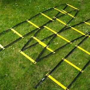 Mitre-4-Metre-Speed-Lightweight-Football-Rugby-Sports-Agility-Fitness-Ladder-Kit