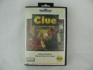 CLUE-Parker-Bros-Sega-Genesis-1992-COMPLETE-w-Box-amp-Manual-WORKS