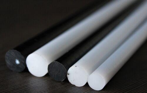 Acetal POM-C Plastic Round Bar Rod WHITEDiameter 6mmLenght 245mm