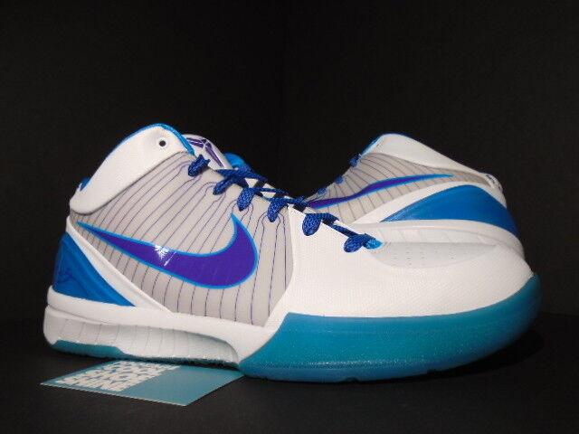 2009 Nike Zoom KOBE IV 4 HORNETS DRAFT Jour Blanc Violet Orion Bleu 344335-151 12