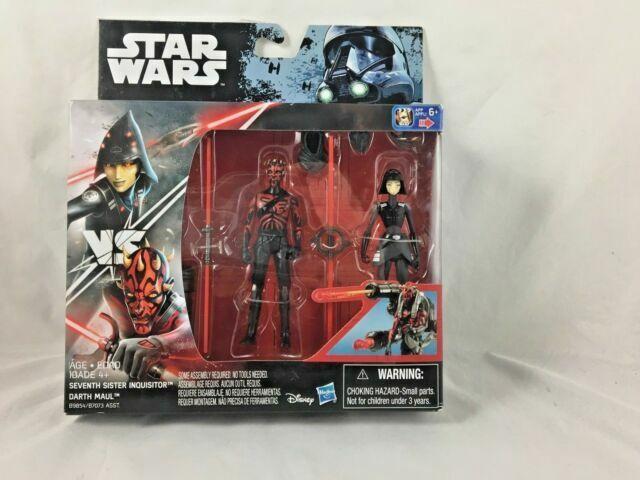 """DARTH MAUL v SEVENTH SISTER Star Wars 3.75/"""" Action Figures BAZE v STORMTROOPER"""