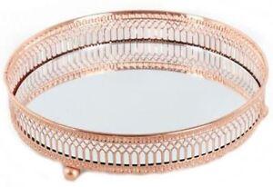 20cm-Copper-Mirror-Base-Candle-Plate-Tea-Light-Table-Centre-Piece-Tray-Decor