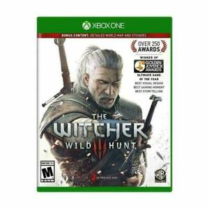 Witcher-3-III-Wild-Hunt-Microsoft-Xbox-One-Game-w-Map-Excellent-Condition