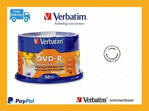 Carton Lots Verbatim 95137 DVD-R 4.7GB Inkjet 4 X 50 Spindle (4 x Spindles)