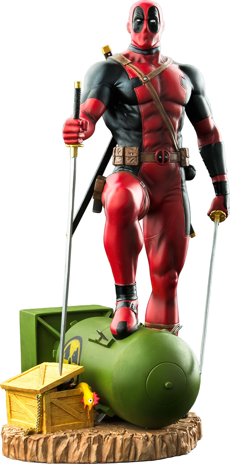 DEADPOOL - Deadpool on Atom Bomb 1/6th Scale Statue (Ikon Collectables)  NEW