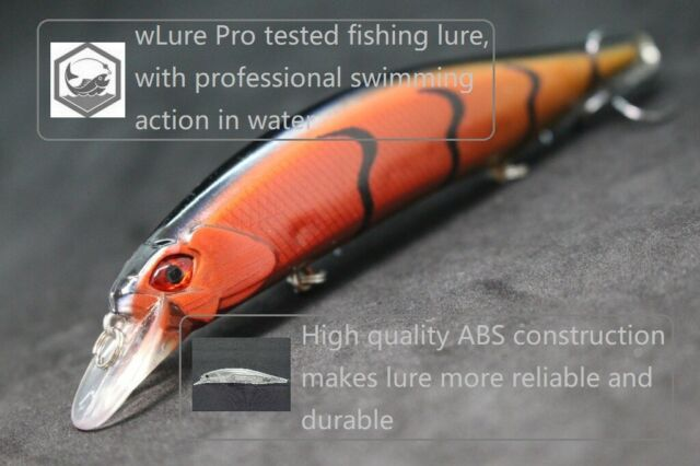 wLure 3 1//3 inch Minnow Fishing Lures Shallow Water For Bass Fishing M597
