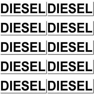 10-Stueck-DIESEL-Aufkleber-Sticker-Auto-Hinweis-Tank-Tankdeckel-Kraftstoff-sign