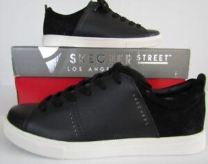 5a85f5a52b13 Skechers Womens Black Shoes Size 8 Moda Clean Street Leather Sneaker ...