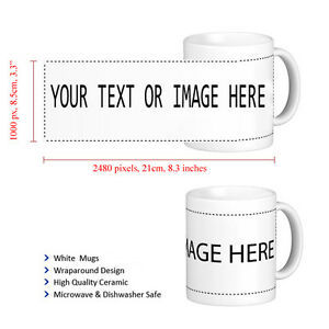 Personalised-COLOURED-Mug-Valentine-039-s-Gift-Your-Image-Photo-Text-Design-Printed