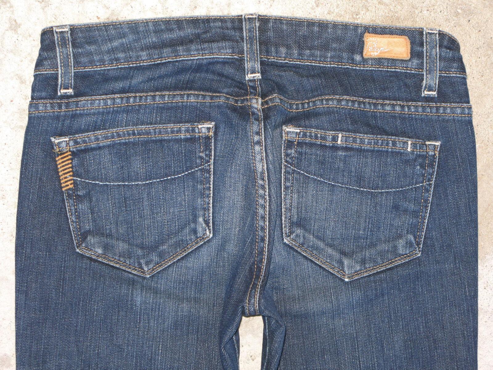 Paige Premium Laurel Canyon Jeans Sz 26 Low Bootcut Dark Distressed