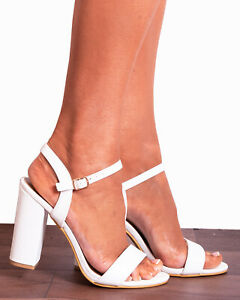 BLACK PEEP TOES STILETTOS ANKLE STRAP STRAPPY SANDALS HIGH HEELS SHOES SIZE 3-8