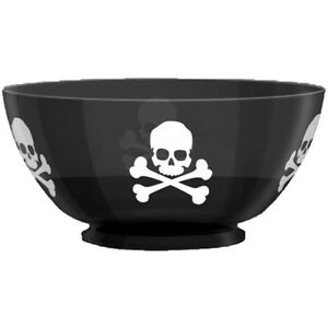 Halloween Bowl | Pirate Poison Halloween Party Large Plastic Snack Treat Punch Party