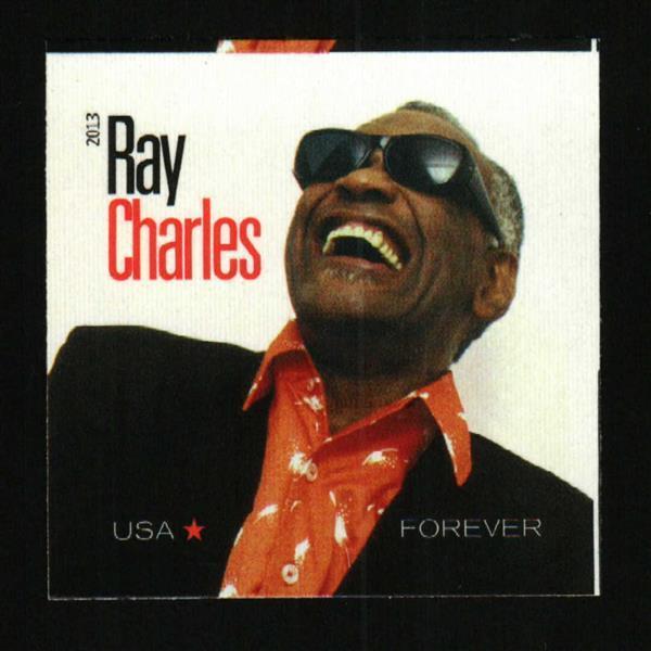 2013 46c Ray Charles, Music Artist, Imperforate Scott 4